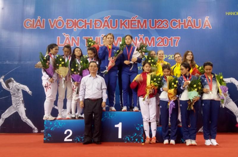 Giải đấu kiếm U23 châu Á: Những tấm huy chương quý giá của đoàn Việt Nam