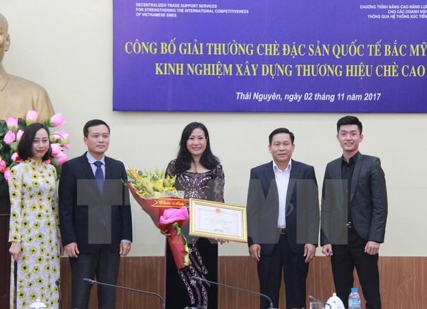 Chè Thái Nguyên đoạt giải đặc biệt tại Cuộc thi chè Bắc Mỹ 2017