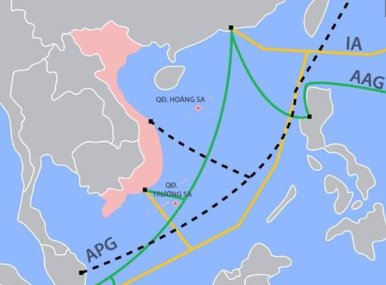Cáp quang biển quốc tế AAG vừa gặp sự cố