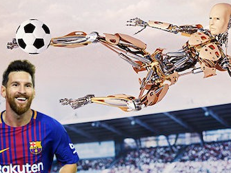Sau 30 năm, thế giới bóng đá sẽ có robot đá bóng giỏi hơn Messi