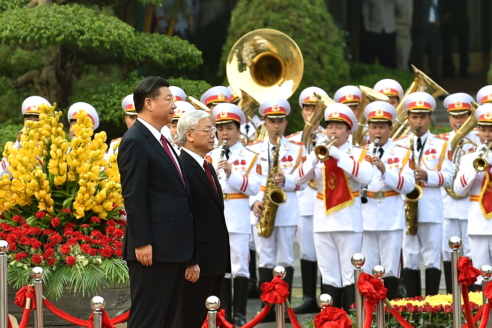 Tổng Bí thư Nguyễn Phú Trọng chủ trì Lễ đón Tổng Bí thư, Chủ tịch Trung Quốc Tập Cận Bình