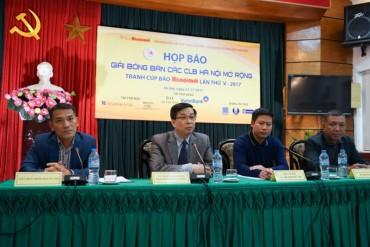 Giải bóng bàn các câu lạc bộ Hà Nội mở rộng lần thư V-2017