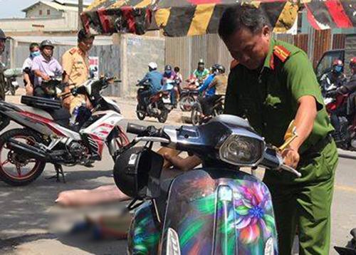 Tránh xe ba gác chạy ẩu, một cô gái bị xe tải cán tử vong