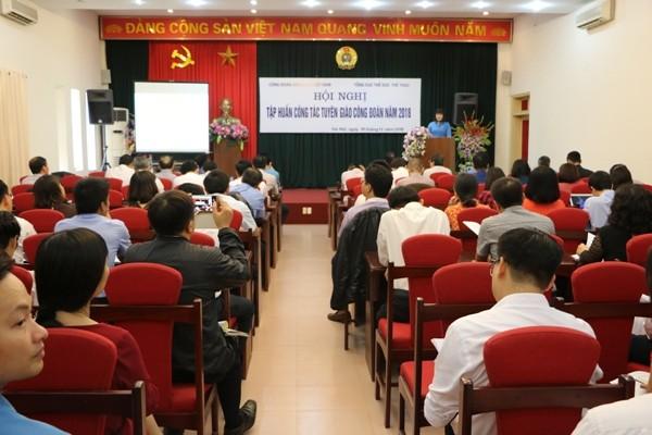 Công đoàn Viên chức Việt Nam: Tập huấn nghiệp vụ công tác tuyên giáo