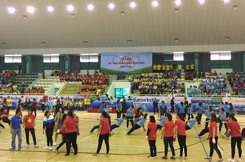 Quận Hoàng Mai: Sôi nổi giải thể thao CNVCLĐ năm 2018