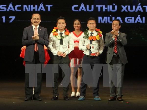 Tổng kết và trao các giải bóng đá chuyên nghiệp Việt Nam năm 2017