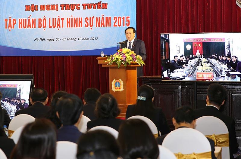 Tập huấn toàn quốc về Bộ luật Hình sự 2015