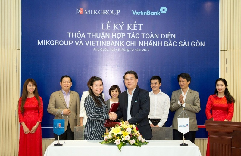 MIKGroup ký kết thỏa thuận hợp tác toàn diện với VietinBank