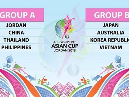 Đội tuyển nữ Việt Nam rơi vào bảng cực khó tại Asian Cup nữ 2018