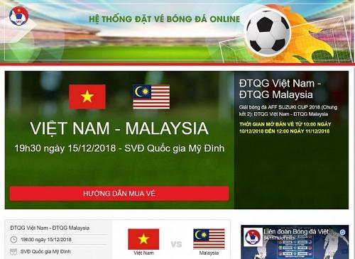Mua vé online trận chung kết lượt về giữa Việt Nam – Malaysia