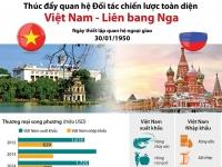 [Infographic] Thúc đẩy quan hệ Đối tác chiến lược toàn diện Việt Nam - Liên bang Nga
