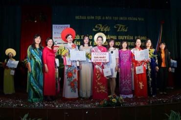Rộn ràng Hội thi Cô giáo tài năng duyên dáng quận Hoàng Mai