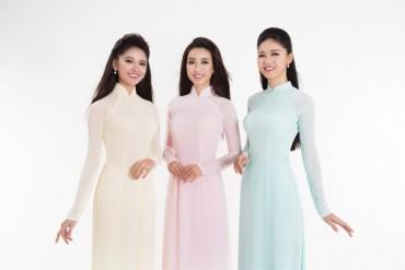 Top 3 Hoa hậu Việt Nam 2016 khoe dáng với trang phục áo dài