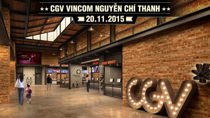 Thêm một cụm rạp chiếu phim hoành tráng tại Vincom Nguyễn Chí Thanh