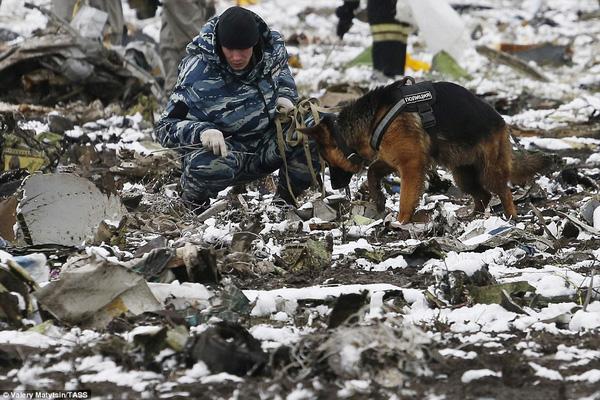 Chùm ảnh xé lòng về thảm kịch máy bay Dubai rơi tại Nga - Ảnh 4.