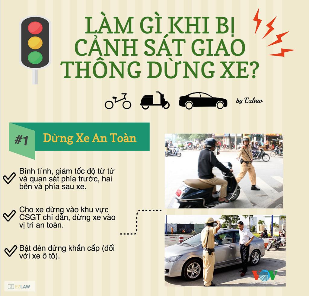 Làm gì khi bị cảnh sát giao thông dừng xe