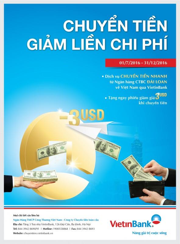 Giảm phí chuyển tiền từ Đài Loan về Việt Nam