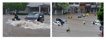 Kinh nghiệm lái xe khi mưa lớn và đường ngập nước