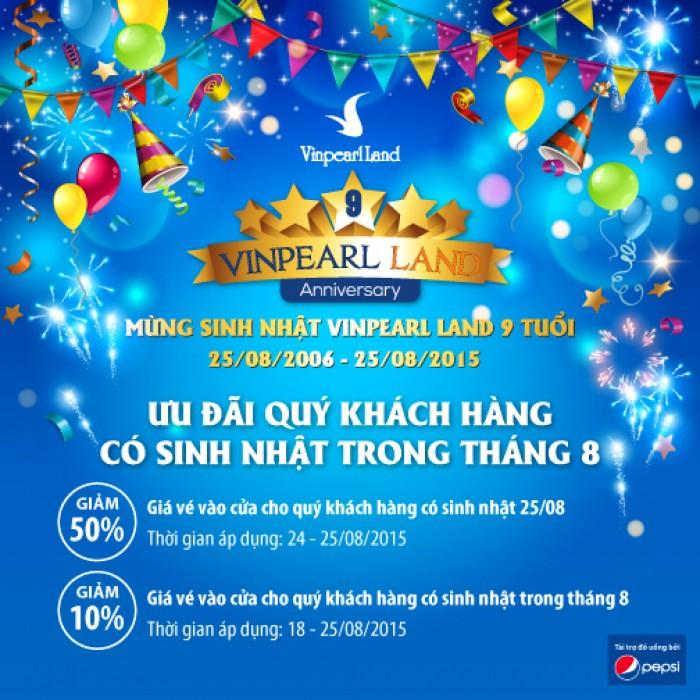 Nhiều ưu đãi nhân dịp mừng sinh nhật Vinpearl Land 9 tuổi