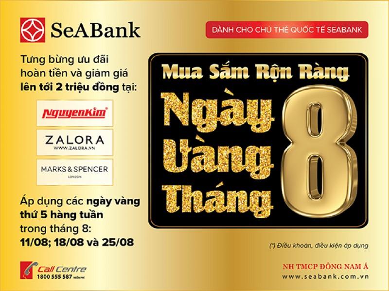 SeABank triển khai ngày Vàng nhiều ưu đãi