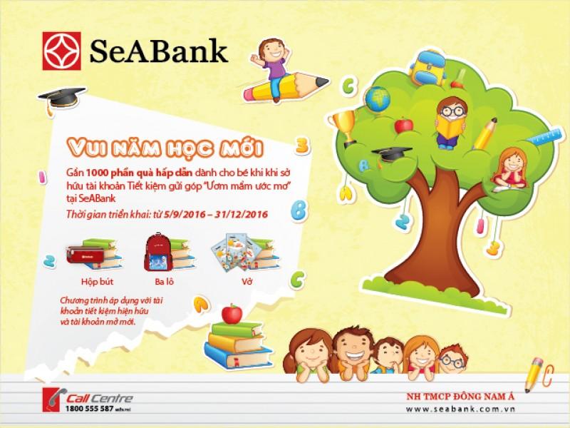 Vui năm học mới với nhiều phần quà hấp dẫn từ SeAbank