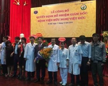 Công bố quyết định bổ nhiệm Giám đốc Bệnh viện Hữu nghị Việt Đức