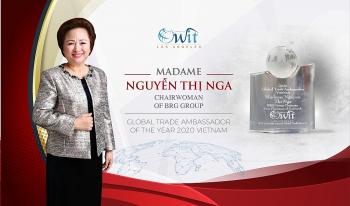 Bà Nguyễn Thị Nga – Doanh nhân Việt Nam duy nhất được tôn vinh Đại sứ Thương mại toàn cầu 2020