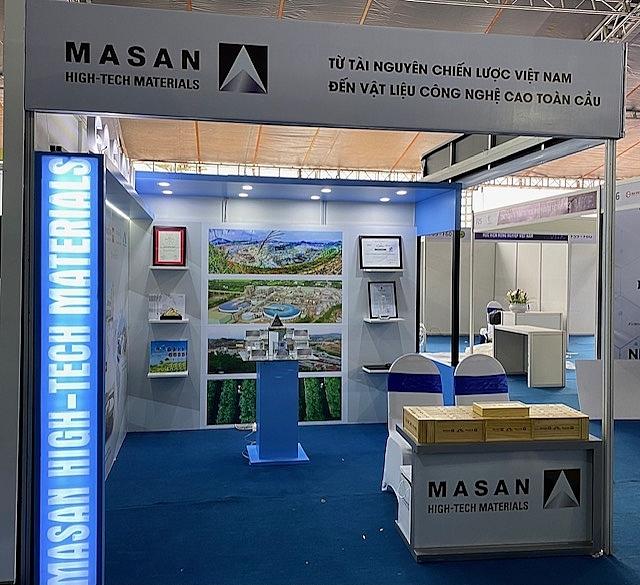 Gian hàng của Masan High-Tech Materials tại triển lãm Đổi mới sáng tạo Việt Nam 2021