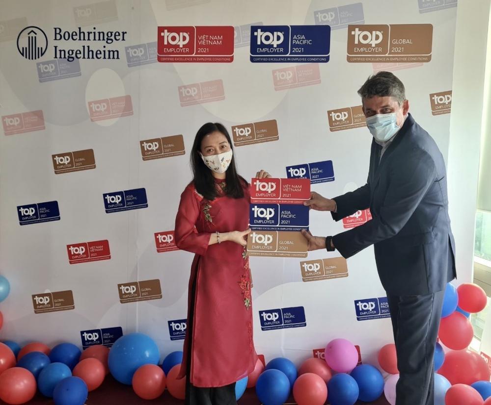Boehringer Ingelheim được vinh danh là nhà tuyển dụng hàng đầu