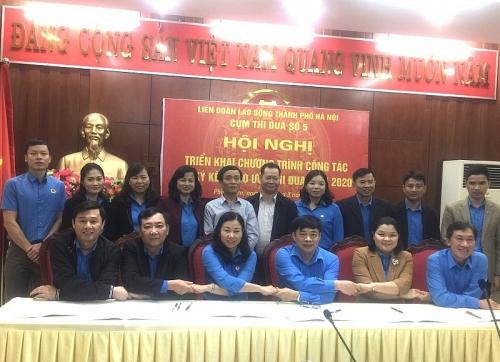 Cụm thi đua số 5 LĐLĐ thành phố Hà Nội ký giao ước thi đua năm 2020