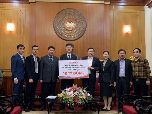 Honda Việt Nam ủng hộ 10 tỷ đồng chung tay cùng Chính phủ phòng chống dịch Covid-19