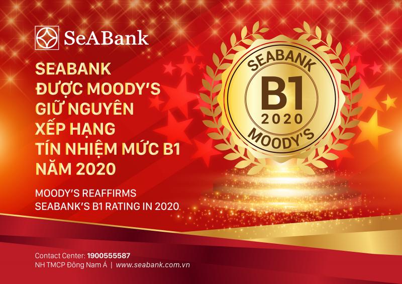 SeABank được Moody's giữ nguyên xếp hạng tín nhiệm B1