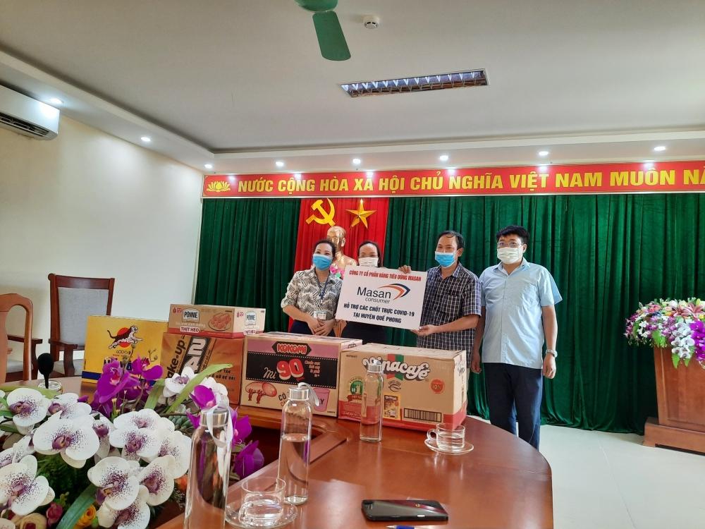 Công ty cổ phần Hàng tiêu dùng Masan tặng hàng nghìn nhu yếu phẩm chống dịch