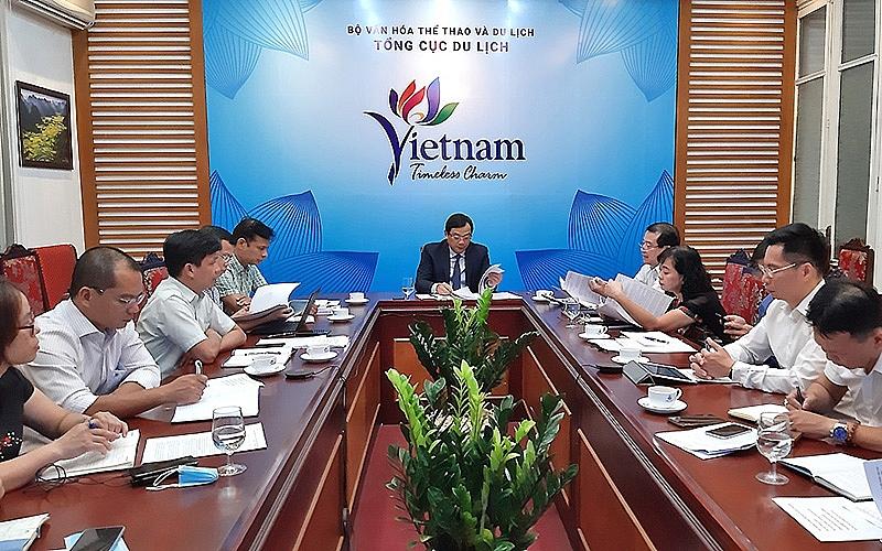 Tổng cục du lịch họp bàn chương trình kích cầu du lịch giai đoạn 2 (Ảnh: Tổng Cục Du lịch)
