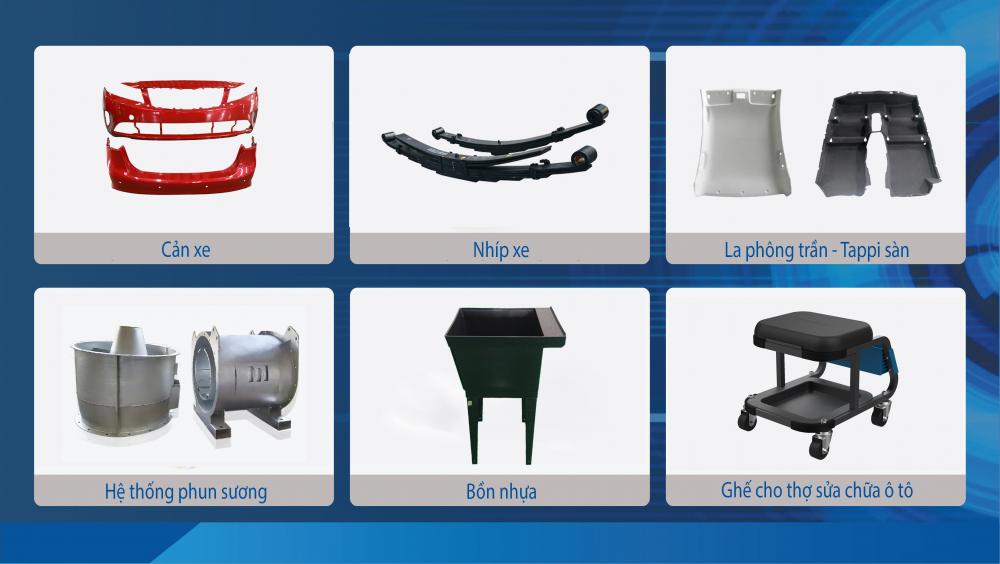 2. Các sản phẩm linh kiện phụ tùng và cơ khí xuất khẩu của THACO AUTO