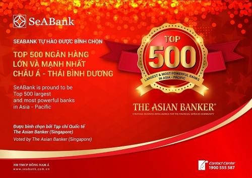 SeABank lọt vào Top 500 Ngân hàng lớn nhất châu Á - Thái Bình Dương
