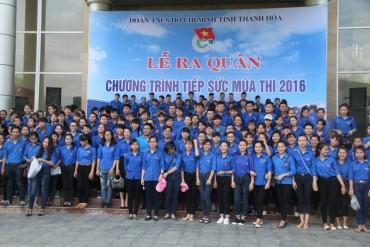 Lễ ra quân tiếp sức mùa thi THPT năm 2016 tại Thanh Hoá