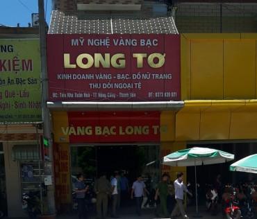 Thanh Hóa: Một tiệm vàng bị trộm đột nhập, cuỗm 100 cây vàng