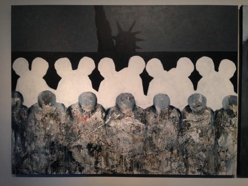 """Triển lãm của họa sỹ Nguyễn Thùy Dương gợi nhớ """" Cái bóng"""" trong truyện cổ An-đéc-xen"""