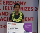 Sinh viên Việt Nam đầu tiên giành giải thưởng IELTS Đông Á