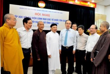 Mặt trận tổ quốc tiếp xúc các tổ chức tôn giáo tại Hà Nội và một số tỉnh lân cận
