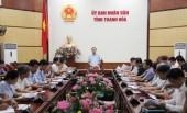 """Thanh Hóa: Họp khẩn ứng phó mưa lũ và bão """"Sơn Tinh"""""""