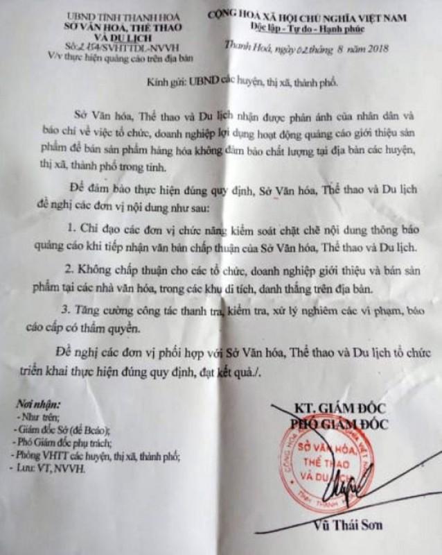 """Thanh Hóa:   """"Tuýt còi"""" việc tổ chức bán hàng trái quy định tại nhà văn hóa xã, thôn"""