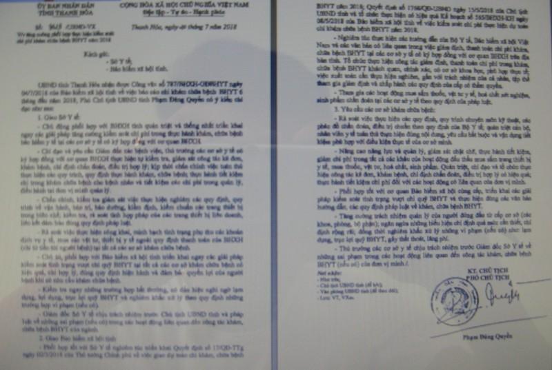 Thanh Hóa:  Tăng cường kiểm soát chi phí khám chữa bệnh BHYT