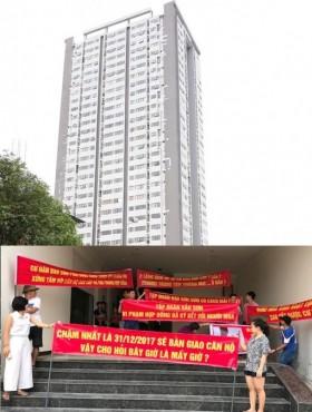 Nghệ An: Cư dân treo băng rôn đòi chủ đầu tư đáp ứng quyền lợi như cam kết