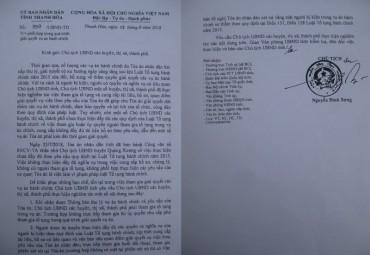 """Hồi âm bài Thanh Hóa: 07 vụ án """"giậm chân tại chỗ""""… Chủ tịch tỉnh yêu cầu chủ tịch huyện phối hợp với Tòa"""