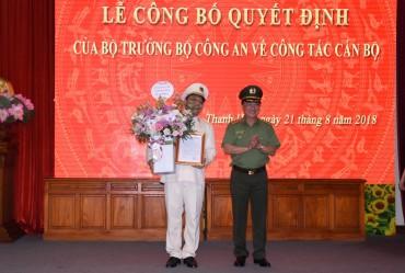 Bộ Công an công bố Quyết định bổ nhiệm Giám đốc Công an tỉnh Thanh Hóa