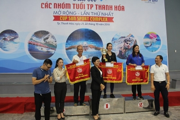 TP. Thanh Hóa: Tổ chức giải bơi lội nâng cao hiểu quả phòng, chống đuối nước