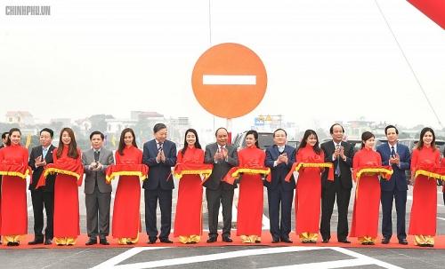 Thông xe tuyến đường nối cao tốc Hà Nội – Hải Phòng và Cầu Giẽ - Ninh Bình