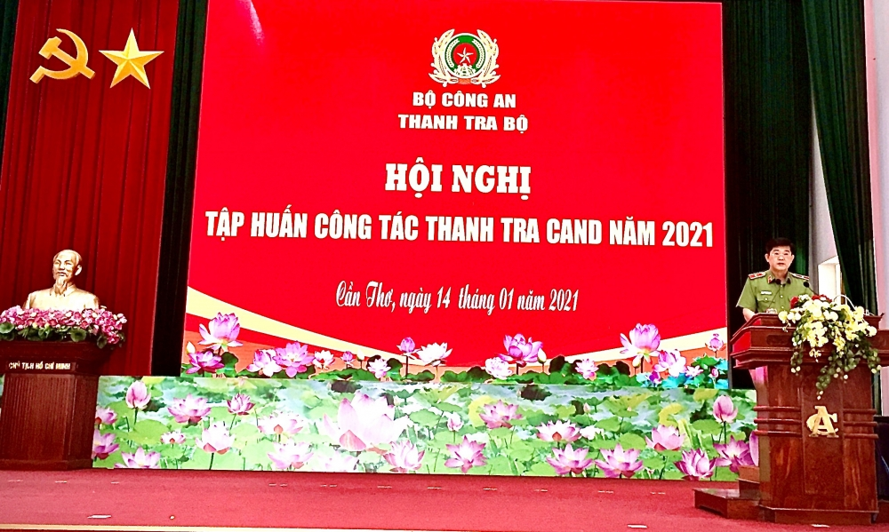Hội nghị tập huấn công tác thanh tra Công an nhân dân năm 2021